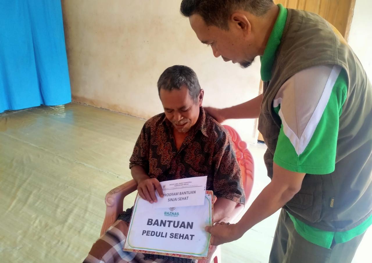 Telah Lama Menderita Sakit, Baznas Sinjai Salurkan Bantuan ke Warga Palae